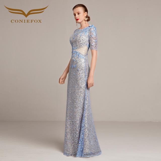 Coniefox 31208-2 Elegant Long Evening Dresses  Formal Gowns Wedding Party Celebrity Oscar Red Carpet robe de soiree party Dress