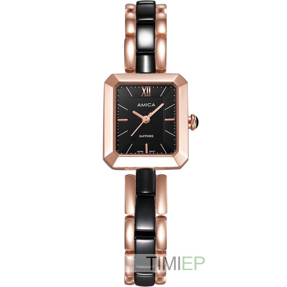 Amica Women's D-Ceramics Quartz Sapphire Glass Stainless Steel Wrist Watches A-4-1 shell dial круг алмазный по керамике 1a1r ceramics elite 200x1 6x7 0x25 4 diam 000547