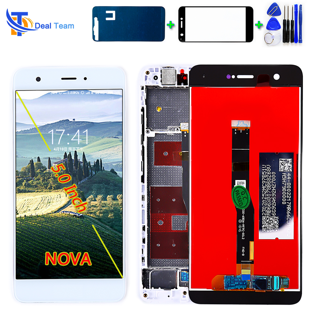 Deal Team LCD Display For HUAWEI NOVA Can-L11 CAN-L01 5.0 Inch Touch Screen Digitizer Assembly 1920*1080 Frame With Free Tools