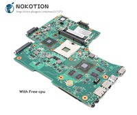 NOKOTION For Toshiba Satellite L650 L655 Laptop Motherboard V000218020 1310A2332305 6050A2332301-MB-A02 HD5650M 1GB Free CPU
