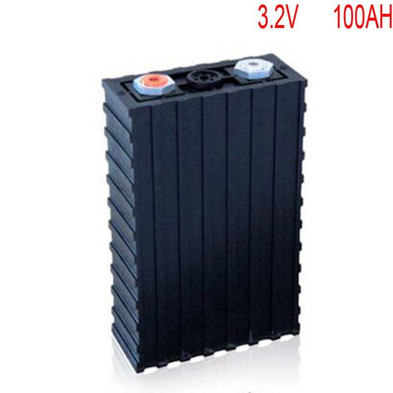 4pcs/lot Rechargeable 3.2V 100Ah Lithium ion LiFePO4 Battery model Batteries for EV/UPS/BMS/Power storage/solar power system rechargeable lifepo4 12v 100ah lithium ion battery for 12v 400ah or 48v 100ah solar street light electric bikes ups ev