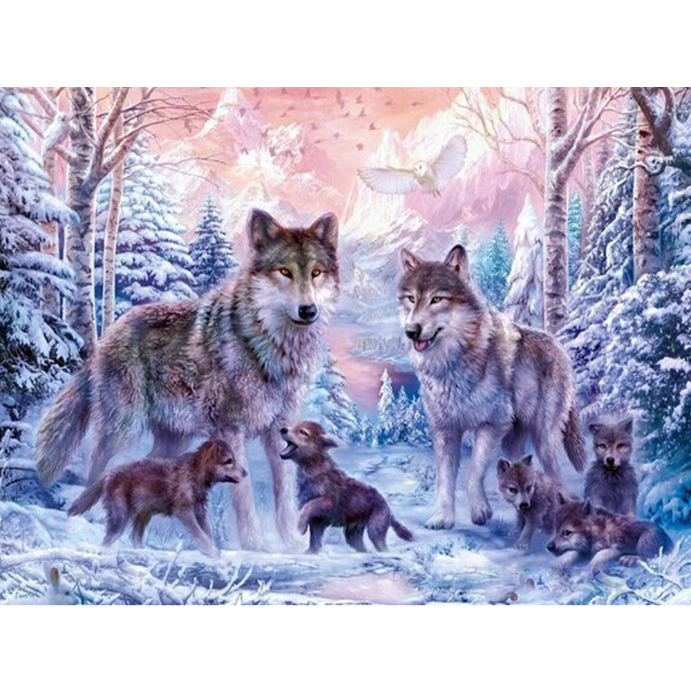 Snow Wolf landscape Adult Puzzle 1000 Pieces Children Educational challenging Puzzles Toys Child Early learning toy Gift adult puzzle 1500 pieces of paper puzzle 1000 pieces of world famous paintings landscape puzzles pressure reducing toys