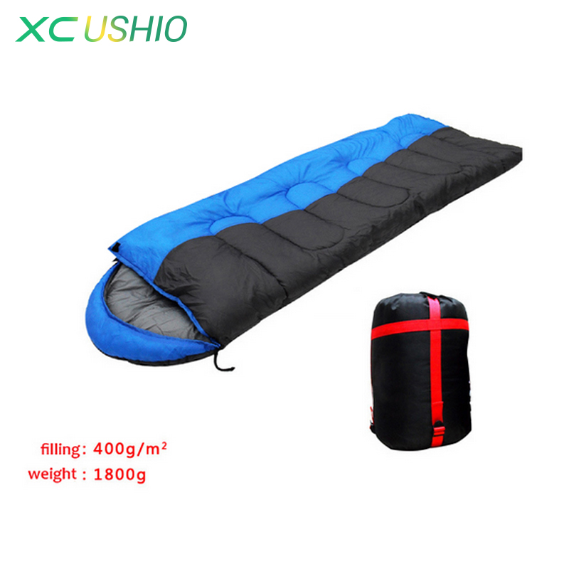 ФОТО Thick cotton autumn winter outdoor camping 5 degree temperature cold resistant adult sleeping bag Joinable design free shipping
