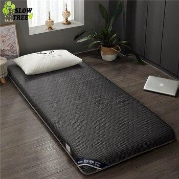 Colchón de doble cara de bosque lento tapete de Tatami de 4,5 cm de espesor colchón de cama de dormitorio para estudiantes