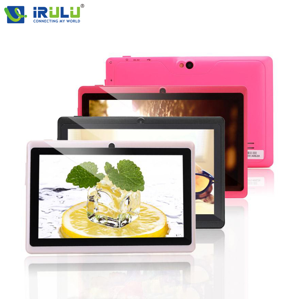 ФОТО iRULU eXpro X1 7'' Tablet Android 4.4 Quad Core 1.5GHz 16GB ROM Dual Camera Tablet PC Support OTG WIFI With Multi Color Hot New