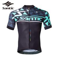 Santic Vélo Jersey Quick Dry Respirant Vêtements de Cyclisme D'été Hommes À Manches Courtes Hommes Jersey Vélo Jersey Descente VTT 30