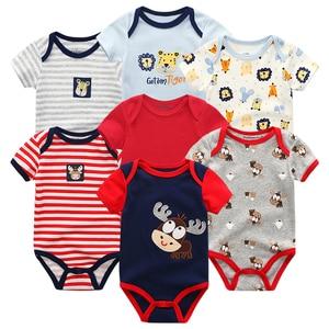 Image 2 - Body unisexe en coton, 7 pièces/lot, combinaison vêtements dété pour enfants, vêtements corps pour filles, pyjamas de noël
