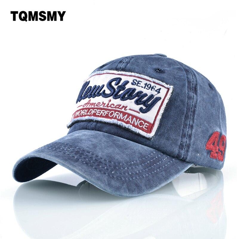 TQMSMY Washed denim Snapback   caps   men Embroidery   baseball     caps   women's cotton Hip hop   cap   Unisex Sun visor hats for women bone