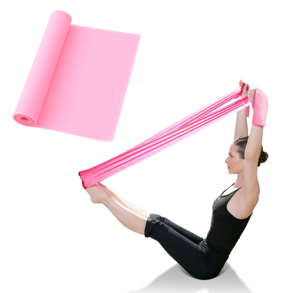 Intelligent 1.2m Elastic Yoga Pilates Rubber Stretch Exercise Band Arm Back Leg Fitness All Thickness 0.35mm Same Resistance Sports & Entertainment