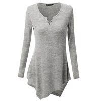 Spring Sweater T Shirt Women Brand High Quality Long Sleeve V Neck Knitted Tee Shirt Femme