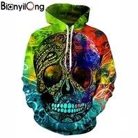 Tracksuit Men Women Hoody 3d Sweatshirts Skull Print Colorful Pullovers Flowers Hooded Hoodies Men Sweatshirts Hip