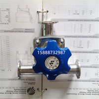 1 25mm 3 Ways 316 Stainless Steel Sanitary Tri Clamp Diaphragm Valve Brew beer Dairy Product