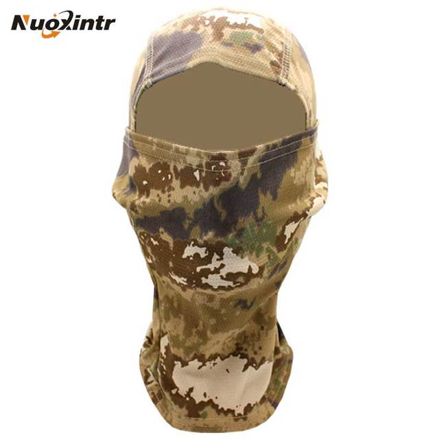 Nuoxintr Outdoor Motorcycle Face Mask Camouflage Army Cycling Cap Balaclava Hats Full Headgear for Wargame Moto Motocross Mask