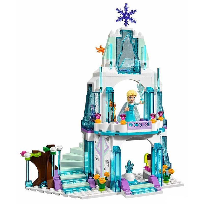 316pcs diy JG301 SY373 Anna Elsa Snow Queen Elsas Sparkling Ice Castle Blocks Compatible with playmobil Brick Toys for children