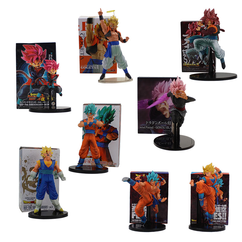15-24cm 8 styles Dragon Ball Z Super Saiyan Son Goku Vegetto Vegeta Kakarotto Gogeta COOL Action Figure Model Toy Hot Sale gift dragon ball z figurines son goku gogeta
