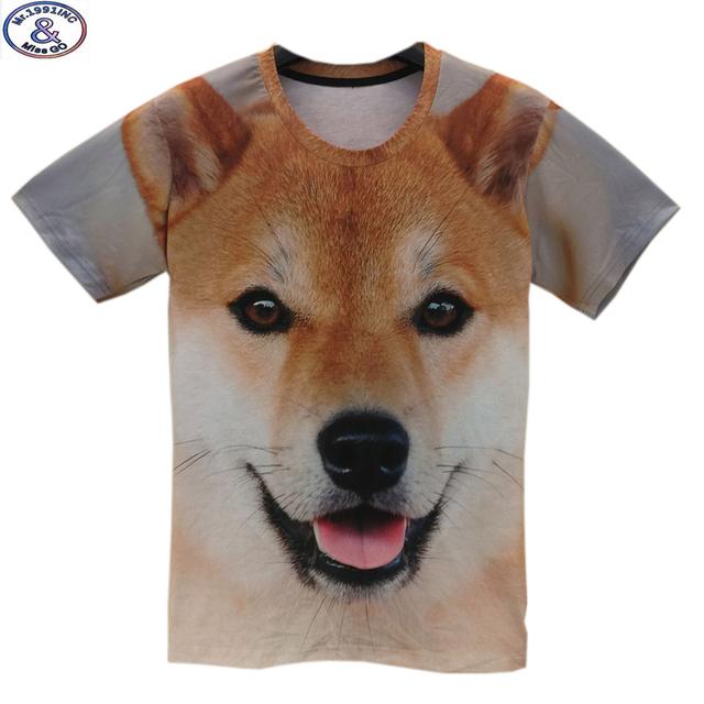Mr.1991 11-20 anos adolescentes t-shirt para meninos ou meninas 3D big amarelo cão impresso manga curta gola redonda camisa do verão t A26