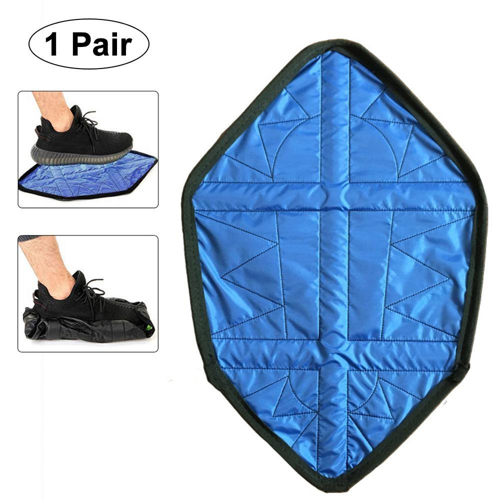 Hands Free Shoe Covers Step In Sock Cover Washable Reusable One Step Portable Automatic Shoe Covers For Sneakers& Boots 1 Pair
