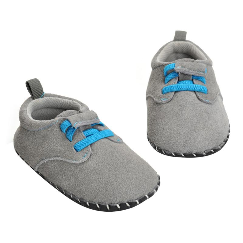 2018 Baby Shoes Neworn First Walkers Antislip For Baby Boy Girl Genius Nubuck Leather Baby Infant Toddler Shoes 0-18M