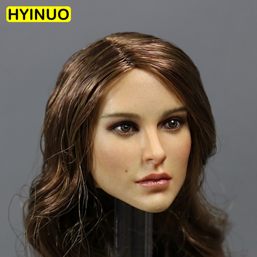 1/6 Scale Sexy Beauty Head Sculpt Female Woman Natalie Portman Carving Version Model Beauty Head Play For 12