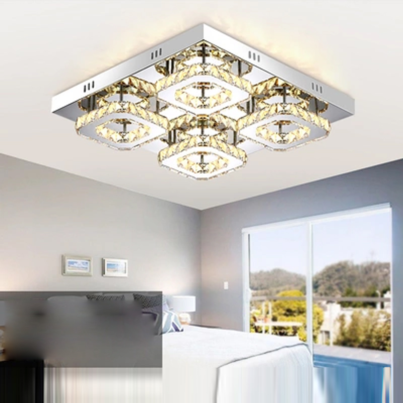 Modern Rectangle Bedroom Led Ceiling Lamp Crystal Living Room Ceiling Lamp Balcony Light Warm White (3500-4500K) Indoor Lightin 2 5 3w 300lm 4500k 3 led warm white light ceiling lamp w led driver silver 85 277v