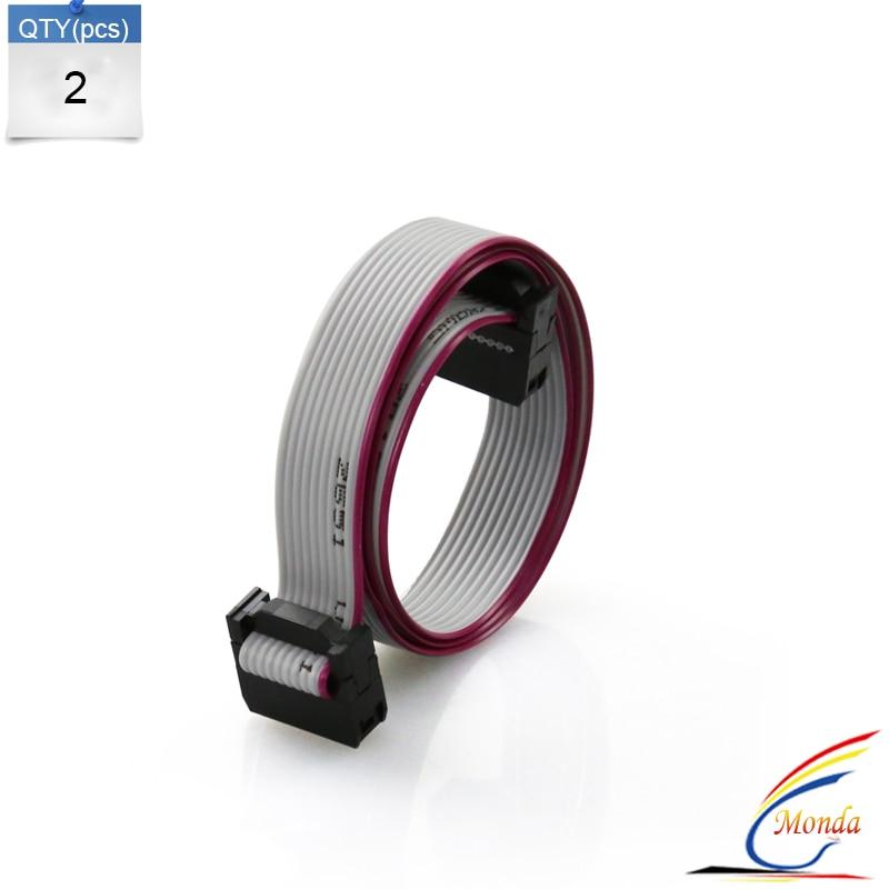 Freeshipping 2Pcs Screen cable AWM 2651 105C 300V 10 Pin Flexible Flat Ribbon Cable Gray For LCD Screen Anet 3D Printer Prusa I3 kotobo e188165 awm 20861 105c 60v vw 1 flexible cable ribbon cable 12pin 0 5mm spacing 158mm long