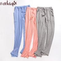 Women's Trousers Modal Spring Autumn Bottom Pyjama Cotton Pajama Pants Ladies Pajama Bottoms Black Women Sleeping Pants Q296