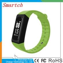Smartch Новинка 2017 Smart Напульсники IP67 водонепроницаемый W4S Bluetooth 4.0 умный Браслет монитор сердечного ритма Спорт Фитнес Smart одежда