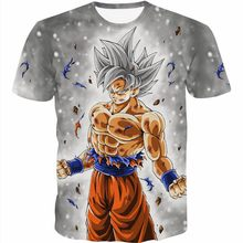 2018 Newest Wolf 3D Print Dragon Ball Goku T-Shirt Men Short Sleeve Summer Tops Tee Shirt T Shirt Male Fashion tshirt Male 4XL(China)