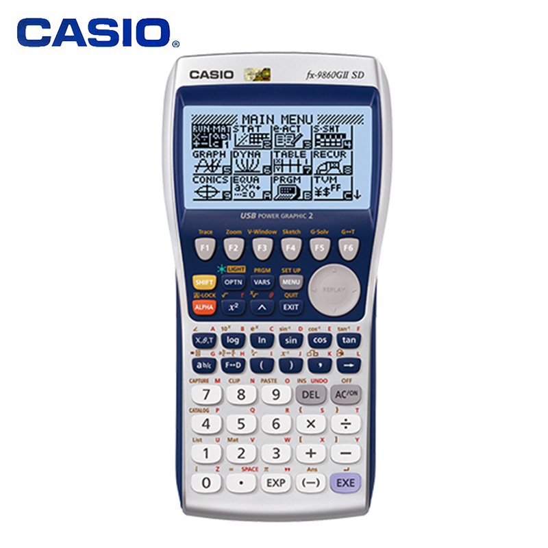 Casio FX-9860GII SD Graphic Engineering Survey Programming Calculator Road Star SAT ExaminationCasio FX-9860GII SD Graphic Engineering Survey Programming Calculator Road Star SAT Examination