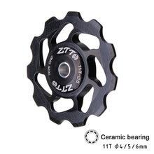 ZTTO 11T vtt vélo dérailleur arrière Jockey roue en céramique roulement poulie route vélo Guide rouleau 4mm 5mm 6mm pièces de VTT