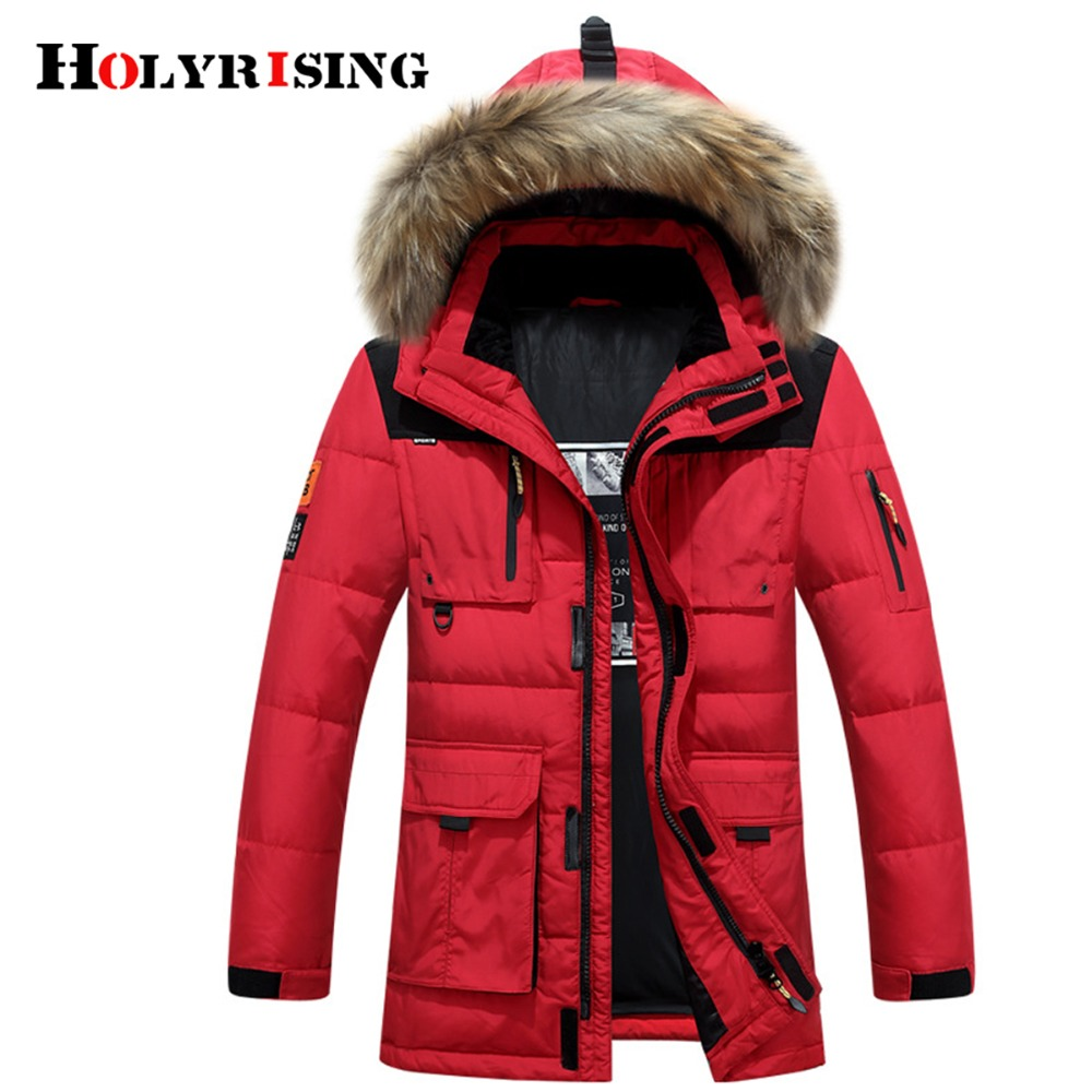 Holyrising Coat Men Outwear Down-Jackets Winter Hooded Loose Thick Chaquetas-De-Invierno