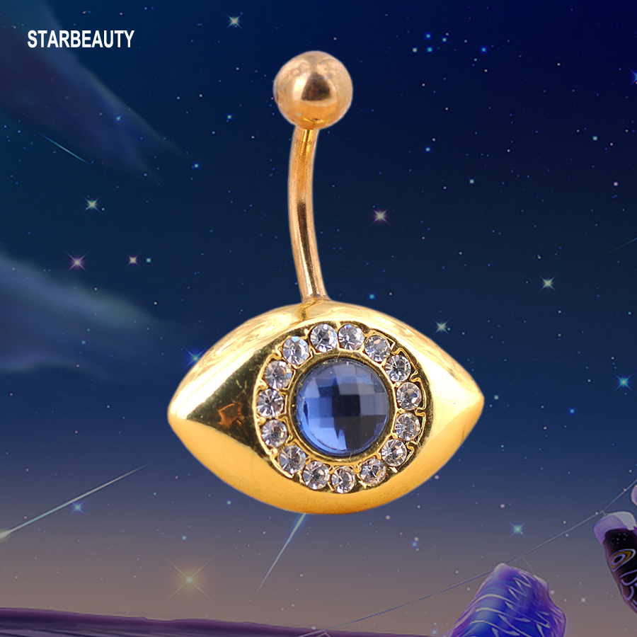 Blue Sky Eye Navel Piercing Golden Body Piercings, Ball -8333