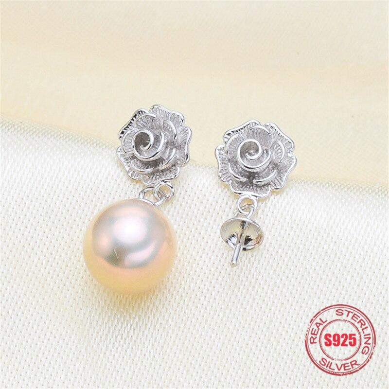 Alloy Dropping Glaze Earrings Thread Ear Studs Girls Mermaid Imitation Pearl Long-Style Earrings Hanging