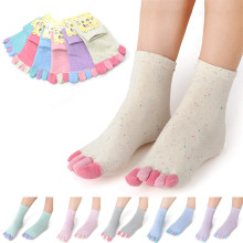 with heel women toe socks ankle high assorted solid color lady five 5 Toe Socks 5 fingers socks one pair feet care #LY