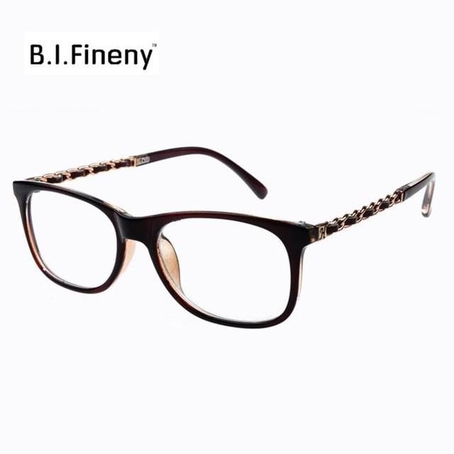 8e6d1703a84 Chain Glasses Frames Women Stylish Square Frames Spectacles Lady Elegant oculos  de grau femininos