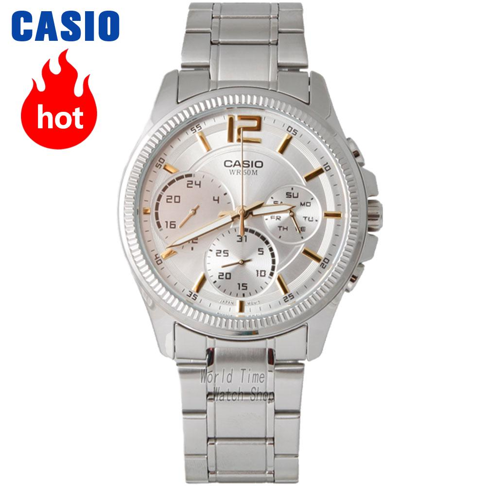 Casio watch Fashion simple leather strip with waterproof quartz watch MTP-E305D-7A MTP-E305L-7A2 casio watch men sports waterproof quartz luminous watch mtp 1374d 7a mtp 1374l 7a mtp 1374sg 1a mtp 1374sg 7a mtp 1374d 1a