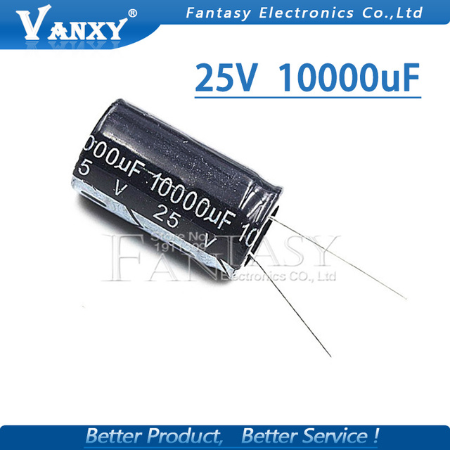 5PCS Higt quality 25V10000UF 18*35mm 10000UF 25V 18*35 Electrolytic capacitor