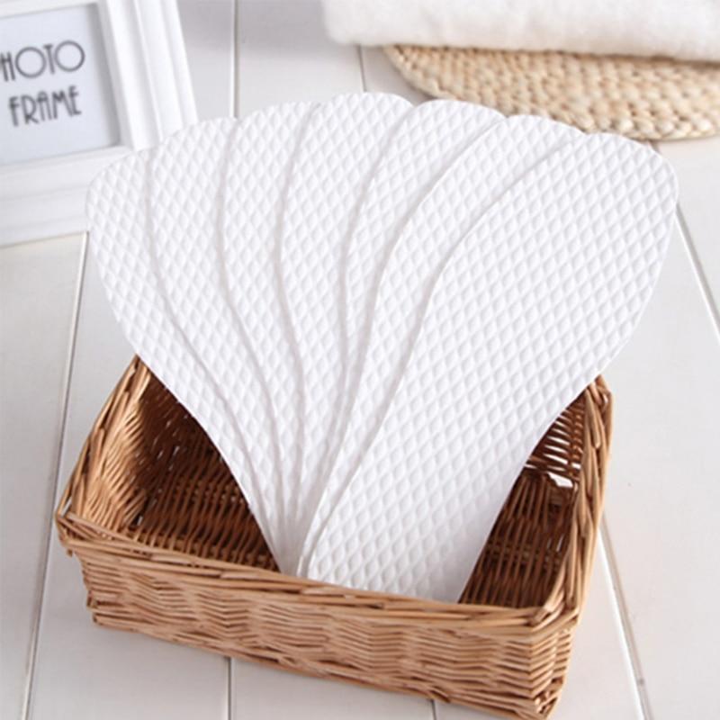 3 Pairs  Disposable Wood Pulp Convenient Shoe Pads Soft Concave Convex Breathable Insoles White 37-46 Size Shoe Pad 2018