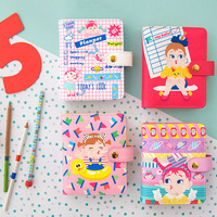TUTU Cute lovely cartoon Dotted Notebook Stationery Lattice Creative Book Simple Soft Cover Bullet Journal Bujo G0016