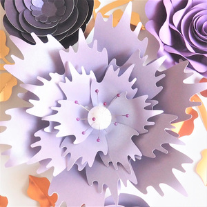 Image 3 - Ręcznie robiony karton różany papier do majsterkowania kwiaty liście zestaw do dekoracji ślubnych i eventowych dekoracje przedszkole dekoracja ścienna samouczki wideo
