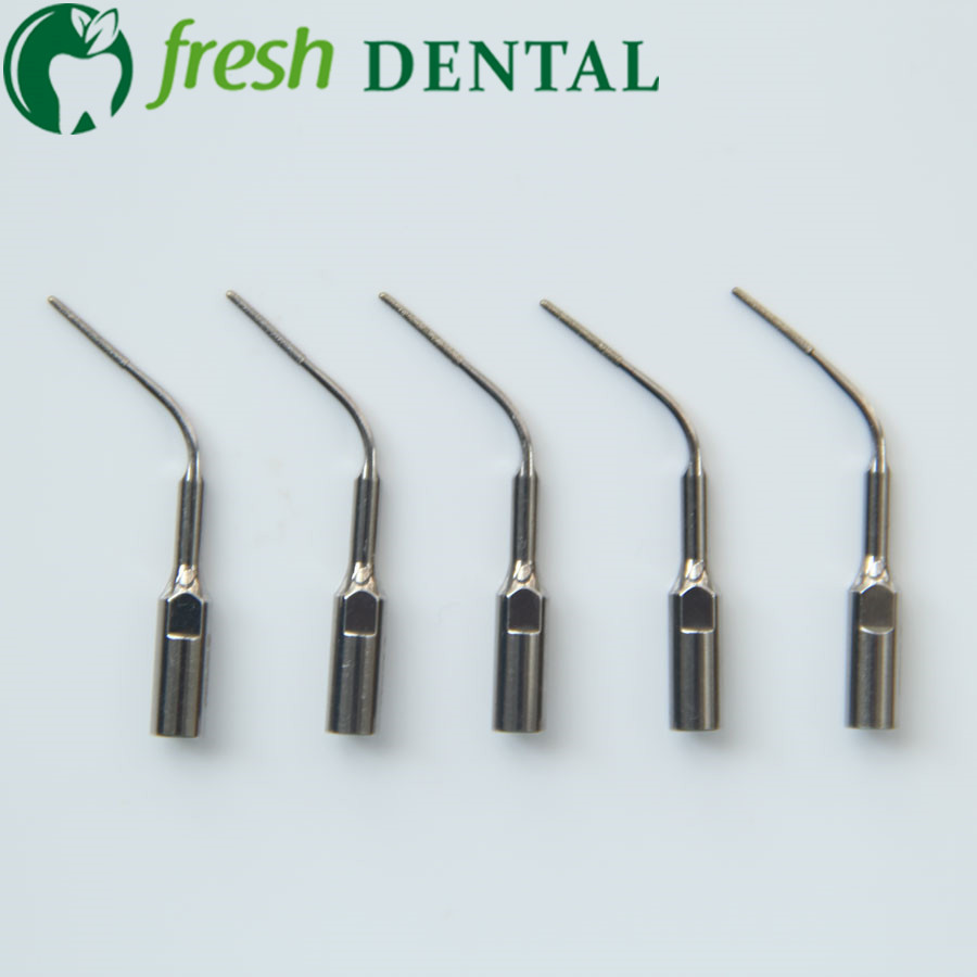 5PCS Dental Scaler Scaling Tip PD3D Nuevo Dental Scaler Perio tratamiento Diamond Coated tips fit DTE / Satelec PD3D