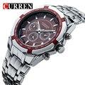 Moda Casual Relógio dos homens Casual Relógio de Quartzo do Aço Inoxidável-Relógios Men Marca de Luxo Relogio masculino Relógio de Pulso