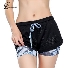 CHLEISURE S-L 6 Colors Women Short for Workout Fashion Casual Active Short Feminino Fake Two Breathable Shorts Women