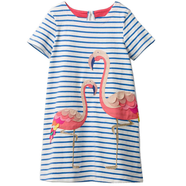 b004eda6f12a Jumping Meters Baby Girl Dress Kids Costume Princess Unicorn Dresses Cotton  Vestidos Children Flamingo Dress for Girls Clothes