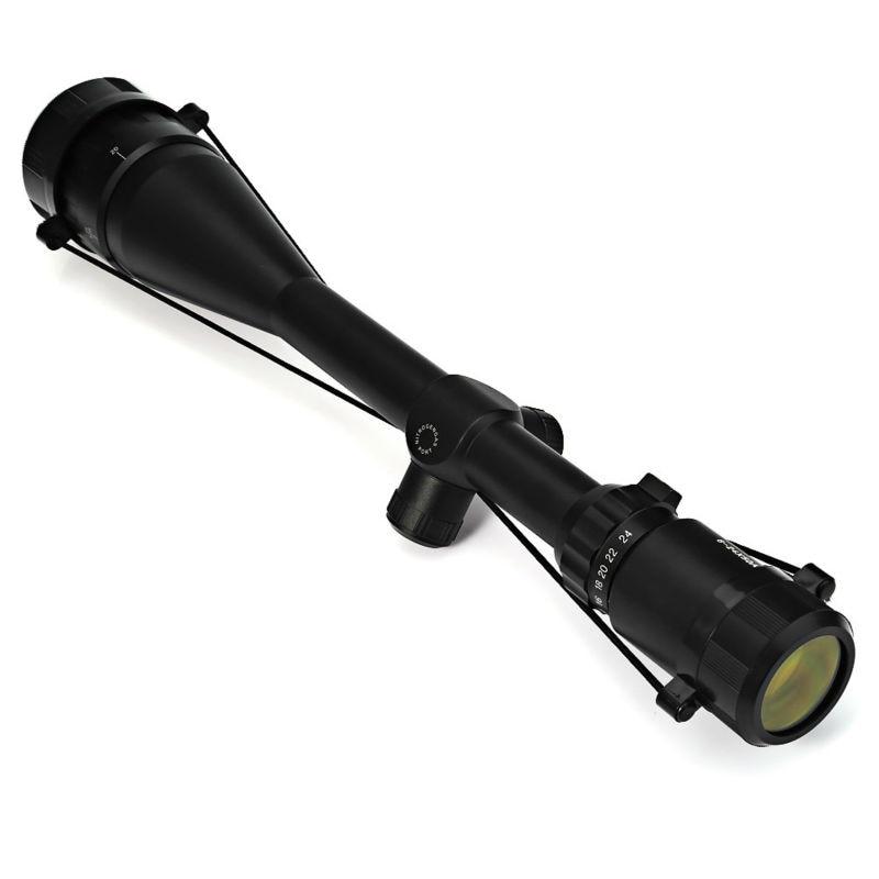 цена на New 6 - 24X 50mm Adjustable Green Red Dot Illuminated Tactical Riflescope Reticle Optical Sight Scope for Shotgun for Hunting