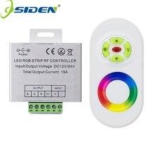 OSIDEN DC 12 V-24 V Panel Táctil Dimmer Inalámbrico RF Remoto RGB Controller 18A Controlador RGB para 3528 5050 RGB LED Strip luz
