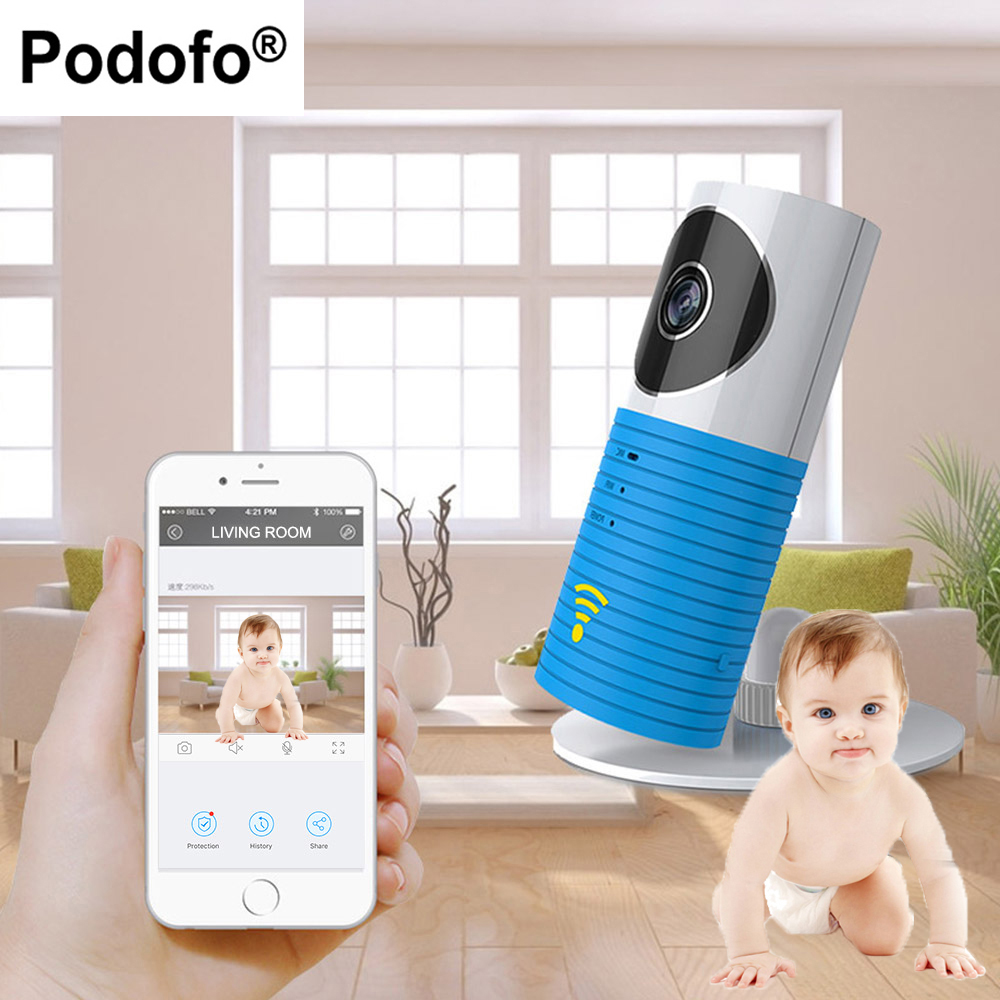 Podofo HD Mini Wireless 720P Wifi Baby Monitor With IP Camera Infant Video Security Two-way Indoor TOPS Audio Night Vision 720p hd hi3518c ov9712 indoor mini security video ip camera with free cms software for home baby security