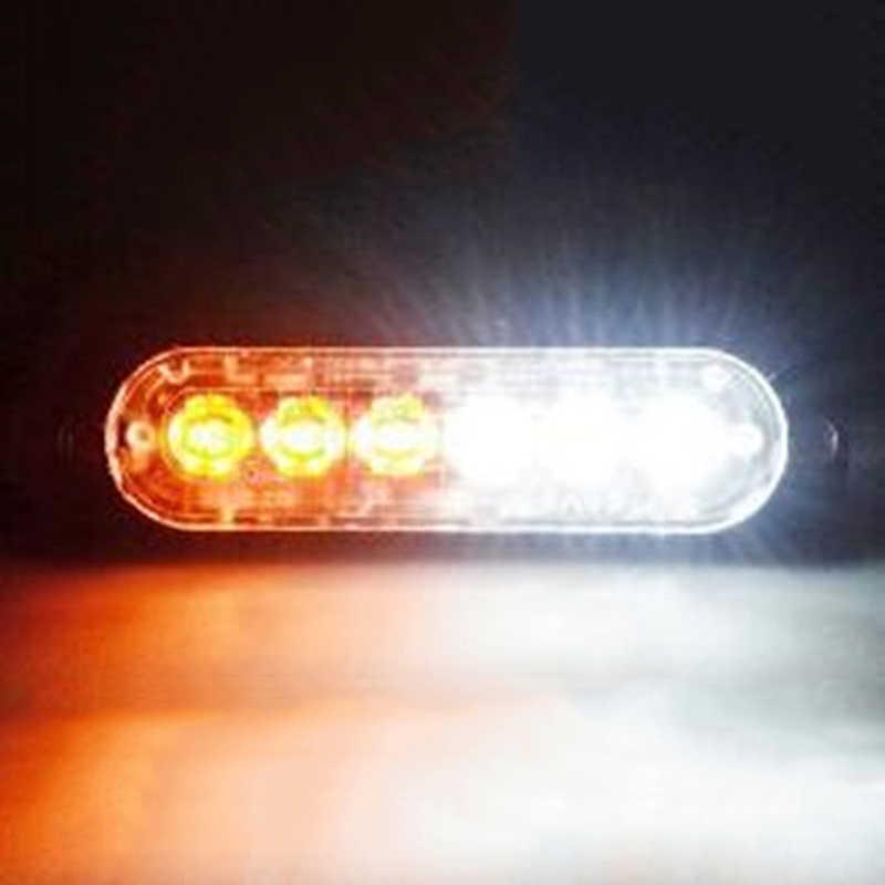 Автомобильный светотехника для грузовика вспышка опасности Предупреждение свет лампы 113x28,2x9,6 мм Новый 12 V-24 V 18W фары для автомобилей 6 светодиодов вспышки света аксессуары