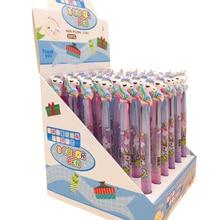 30 unids/lote kawaii unicornio 3 colores pluma de prensa los mejores regalos para estudiantes bolígrafo Escuela y oficina lápiz de firma