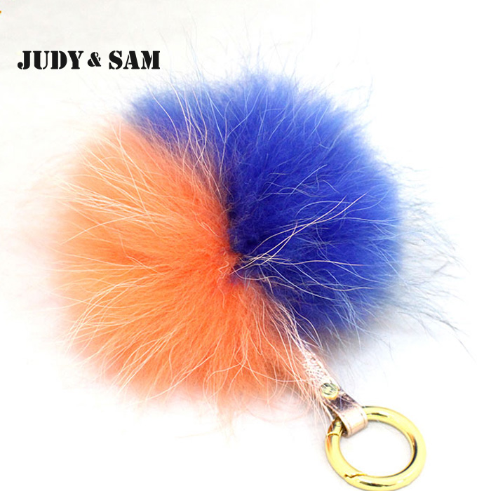 6501686533 Big Size Real Raccoon Fur Pompon Key For Women Bags Charm Mixed Colors Stylish  Pom Pom Real Leather Quality Chain